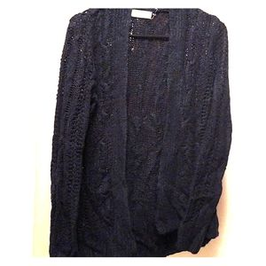 Navy Blue Hollister Cardigan